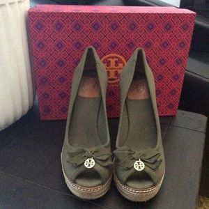 Tory Burch Wedge Espadrille Canvas